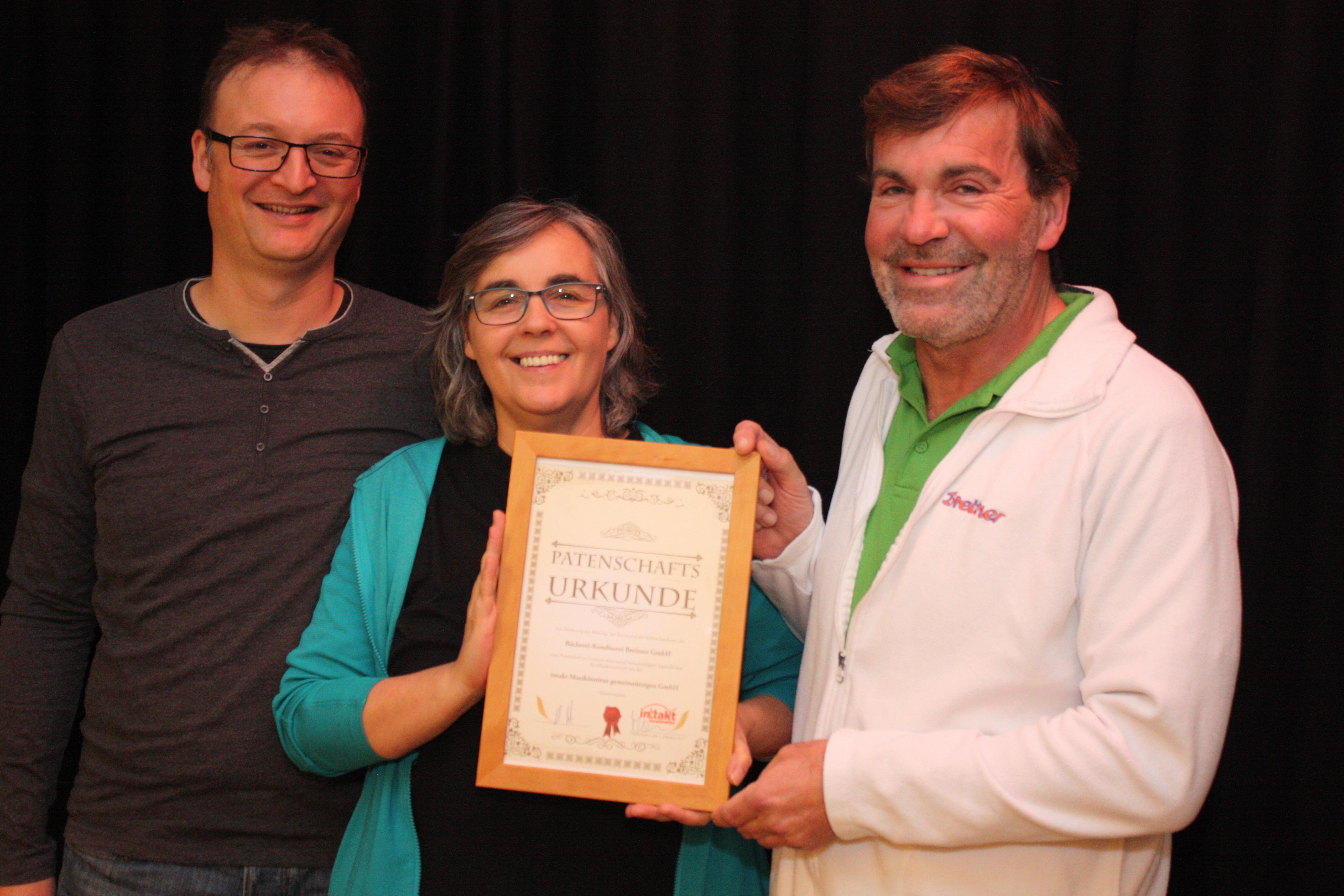 Bäckerei Breitner übernimmt Patenschaft für in Not geratene Musikschülerin