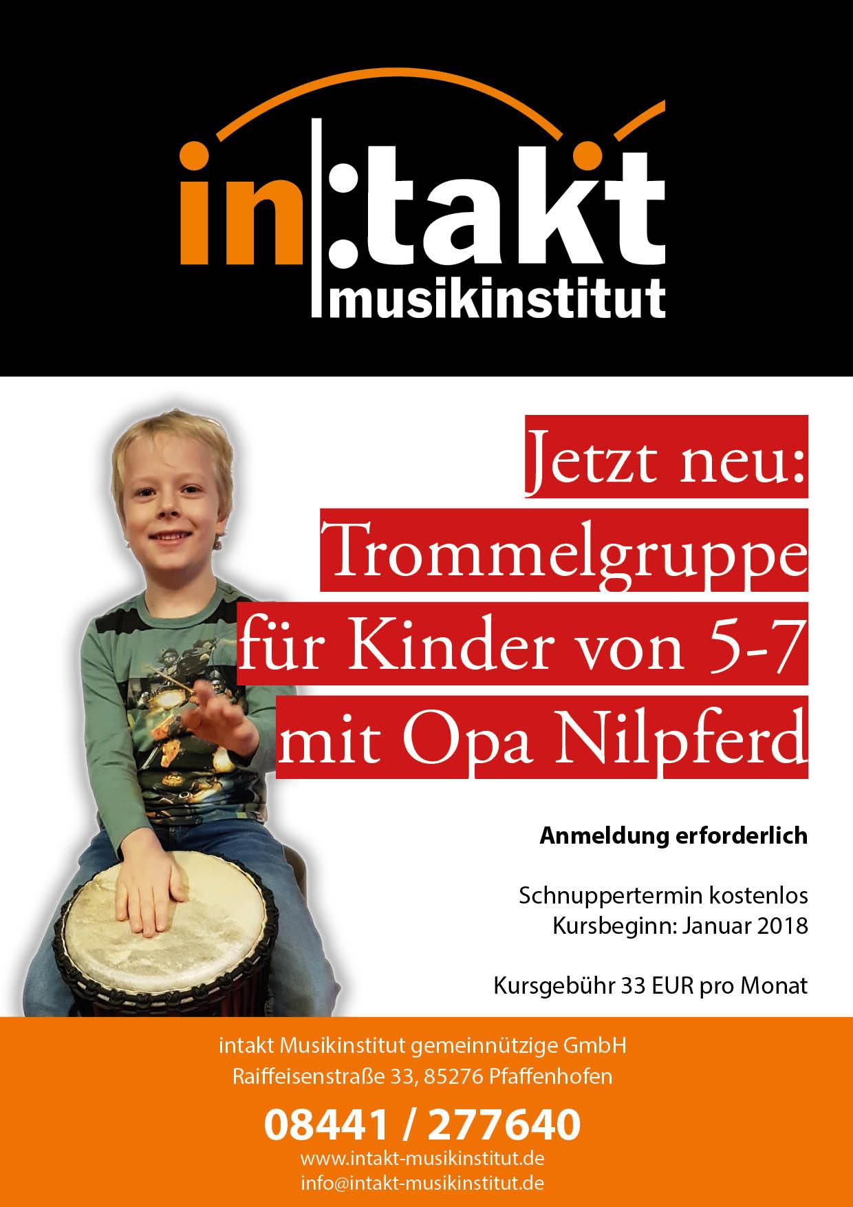 Ab Januar neu: Kindertrommeln für 5-7 Jährige