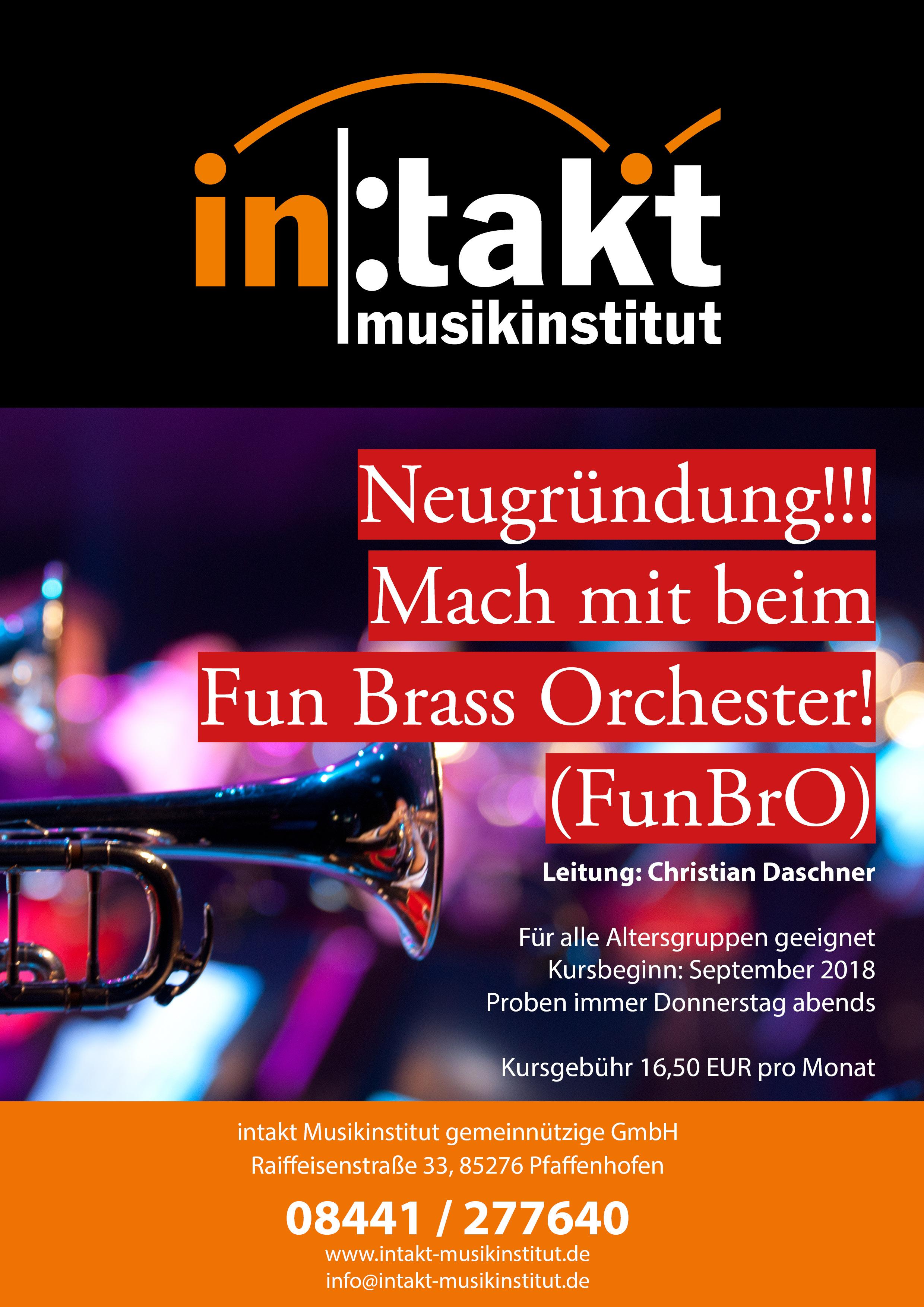 Neugründung: Mach mit beim intakt Fun Brass Orchester!